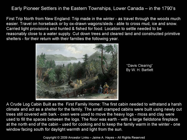 Early Settlers - Lower Canada