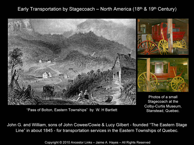 Early Transportation by Stagecoach - North America