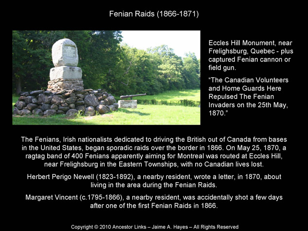 Fenian Raids Memorial - Eccles Hill