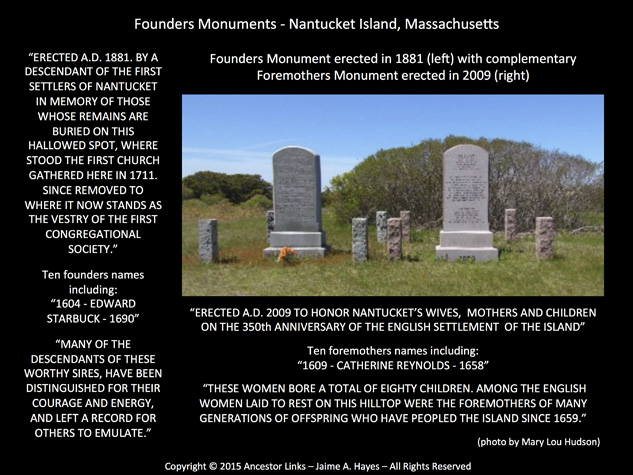 Founders Monuments - Nantucket Island
