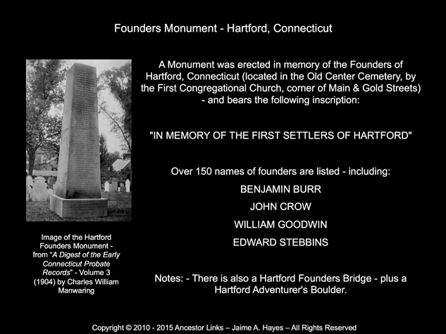 Founders Monument - Hartford, Conn.