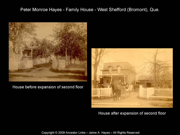 Peter Monroe Hayes House in West Shefford (Bromont) Que