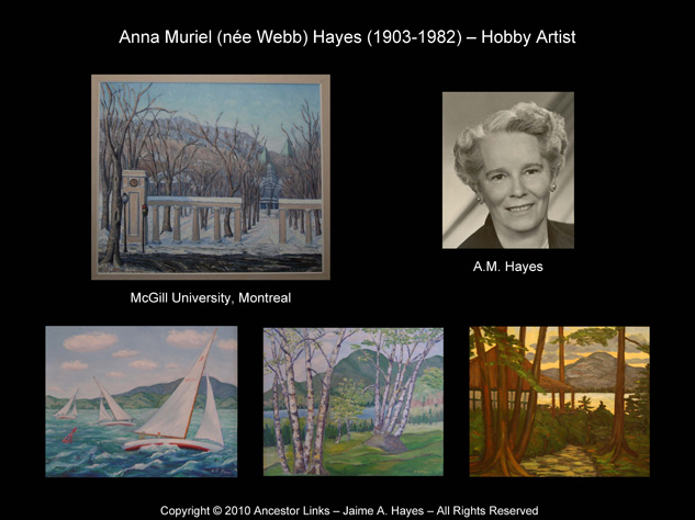 Paintings by A M Hayes