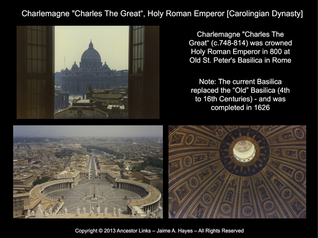 Holy Roman Emperors - Charlemagne - St. Peter's Basilica, Rome