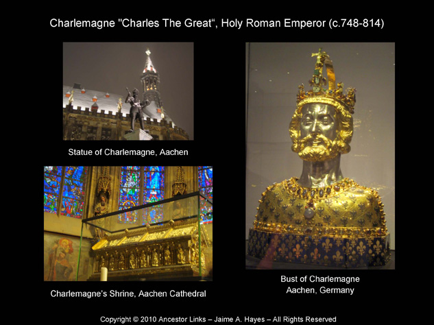 Holy Roman Emperors - Charlemagne - Shrine, Bust and Statue in Aachen