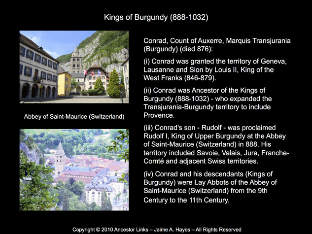 Kings of Burgundy & the Abbey of Saint-Maurice