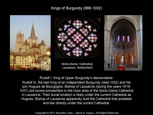 Kings of Burgundy & Lausanne Cathedral