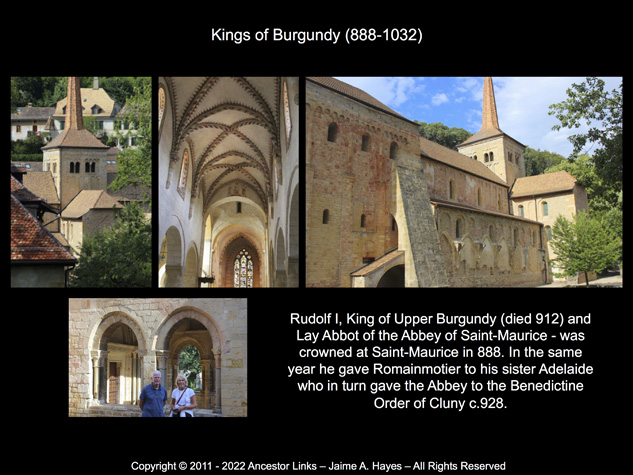 Kings of Burgundy & the Abbey of Romainmotier