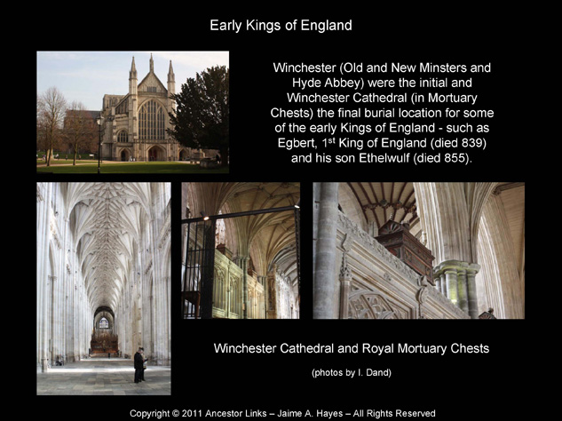 Early Kings of England - Winchester Cathedral