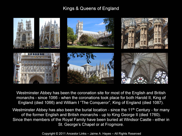 Kings & Queens of England - Westminster Abbey