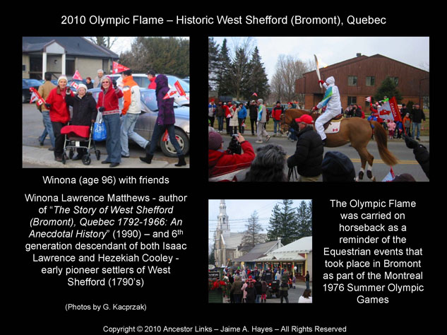 Olympic Flame 2010 - Bromont Quebec
