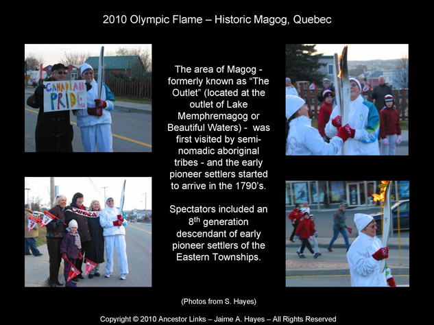 Olympic Flame 2010 - Magog Quebec