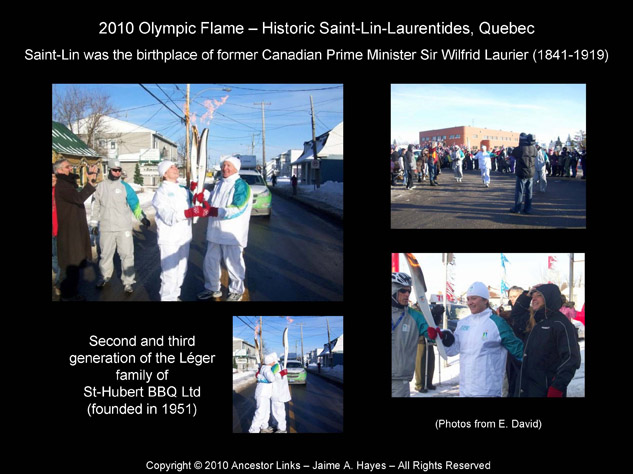 Olympic Flame 2010 - Saint-Lin Quebec