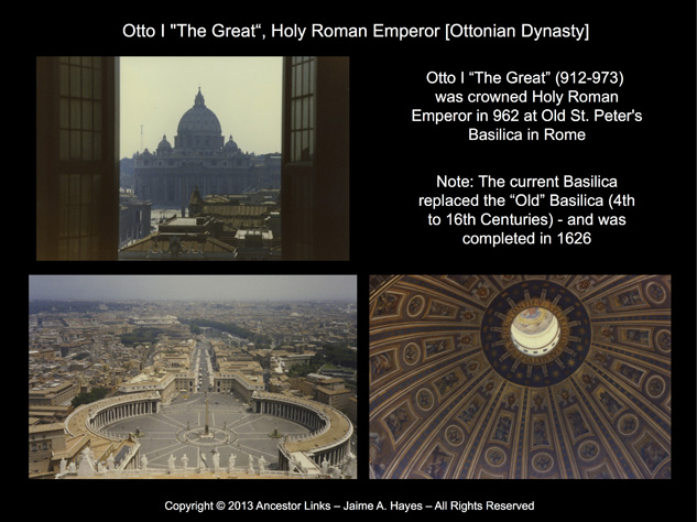 Holy Roman Emperors - Otto I - St. Peter's Basilica, Rome