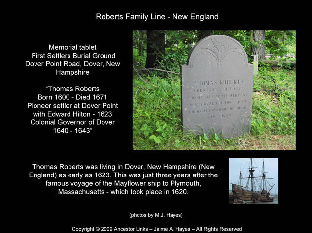 Thomas Roberts - Memorial - Dover, New Hampshire