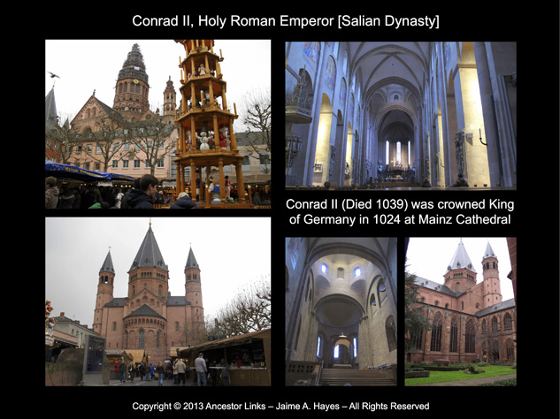 Holy Roman Emperors - Conrad II - Mainz Cathedral