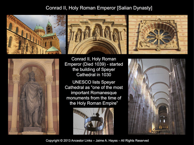 Holy Roman Emperors - Conrad II - Speyer Cathedral