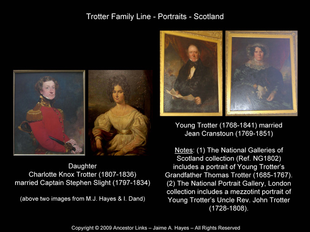 Trotter Family Line - Portraits - Two Generations - Scotland