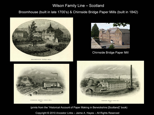 Broomhouse & Chirnside Bridge Paper Mills