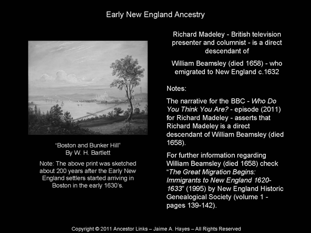 William Beamsley - New England c.1632